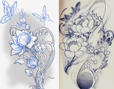 lotus sketchs by ~mojoncio on deviantART