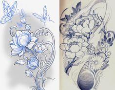 Tattoo Sketch by Luis Orellana Jugendstil in Berlin, Germany / www.tattoosberlin.com
