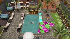 My Sims Free Play - Sterling Archer's Sexy Summer Hideout: pool (4/13)