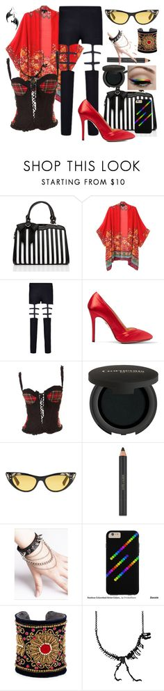 """Goth Underworld Ensemble"" by cricketdiane ❤ liked on Polyvore featuring Charlotte Olympia, Dolce&Gabbana, Gorgeous Cosmetics, Gucci, Estée Lauder, WithChic and Chamak by Priya Kakkar"