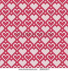 Stricken Ornamental Pattern For Knitting And Embroidery Heart Stock Photos, Images, & Pic. Embroidery Hearts, Cross Stitch Embroidery, Cross Stitch Patterns, Knitting Charts, Knitting Stitches, Knitting Patterns, Heart Patterns, Beading Patterns, Tapestry Crochet Patterns