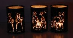 Presepe di luce: Tutorial con schemi. Presepe di luce: Tutorial con schemi per realizzare un presepe di Natale fai da te alternativo fatto di luci con materiali di riciclo