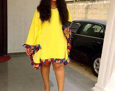 Lola African dress / African short dress / Ankara short dress / African print dress for women / African dresses / African clothing Short African Dresses, African Blouses, Latest African Fashion Dresses, African Print Fashion, Short Dresses, African Fashion Designers, African Wear, African Attire, African Women