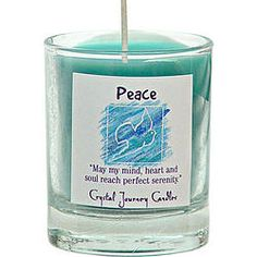 Soy Herbal Filled Votive Peace