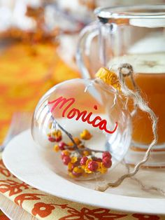 Bittersweet Ornament Fall Place Setting - perfect for the Thanksgiving table!