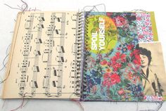 Blank Junk Journal - Scrap journal - Diary - Art journal - notebook - Junque Art