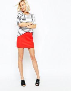 River Island | River Island Pelmet Mini Skirt at ASOS