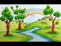 Pin By Drawing Ka Fanda On Scenery Drawing For Kids In