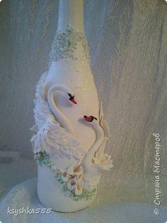 Декор предметов Свадьба Лепка Свадебное Лебединая верность Пластика фото 2