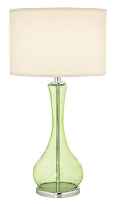 green glass table lamp green lamps on pinterest table lamps green. Black Bedroom Furniture Sets. Home Design Ideas