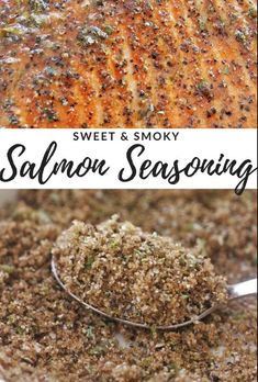 This Sweet & Smoky Salmon Seasoning is the perfect blend of flavors to complement grilled or baked salmon. Plus, it's made from pantry staples you likely have on hand! Let cooking magic show you how to cook. Dry Rub Recipes, Fish Recipes, Seafood Recipes, Gourmet Recipes, Cooking Recipes, Healthy Recipes, Smoked Salmon Recipes, Gourmet Desserts, Plated Desserts