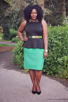 Black Peplum top see details of the outfit more on www.mycurvesandcurls.com  #fashion #peplum #additionelle