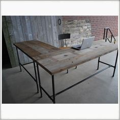 simple l shaped desk for office - Google Search