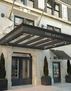 Relais & Chateaux - Behind the sleek doors of The Surrey's New York townhouse façade hides a unique hotel and home-away-from-home for travelers staying in Manhattan. The Surrey Hotel, NY #relaischateaux #building