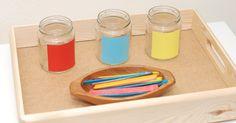Isolation der Eigenschaft, vom Einfachen zum Komplexen, Maria Montessori, Farben lernen