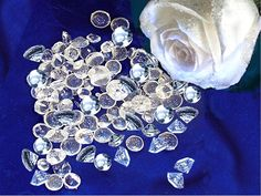 Edible sugar diamonds!  I must find way to work these in