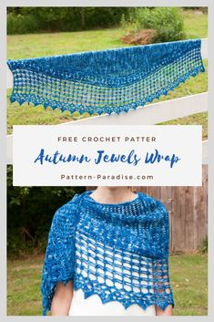Crochet Patterns Wear Crochet Pattern for Autumn Jewel Wrap - Part 1 Crochet Wrap Pattern, Crochet Diy, Crochet Gifts, Crochet Patterns, Autumn Crochet, Crochet Shirt, Crochet Motif, Crochet Flowers, Crochet Shawls And Wraps