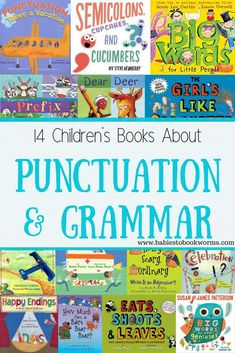 Make language fun with these children's books about punctuation & grammar! #TeachingPunctuation #PunctuationBooksForKids #LanguageBooksForKids Kids Learning Activities, Writing Activities, Fun Learning, Learning Letters, Toddler Learning, Reading Resources, Toddler Preschool, Reading Lists, Teaching Punctuation