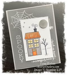 Halloween Paper Crafts, Halloween Tags, Halloween Projects, Holiday Crafts, Halloween 2020, Fall Cards, Catalogue, Homemade Cards, Stampin Up Cards