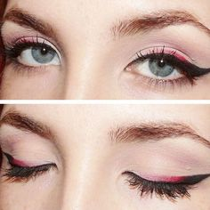 Red ombre eyeliner.