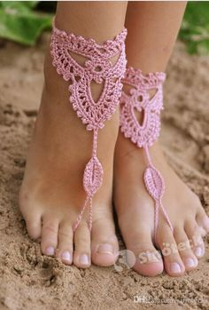 Good 2pcs Anklet Crochet Barefoot Sandals Women Handmade Wedding Knitted Rope Yoga Dancing Wear Foot Ankle Chain Office & School Supplies