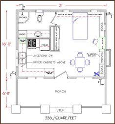 Simple Life Bungalow floor plan 336 sq. ft.
