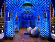 Super cool wine cellar.