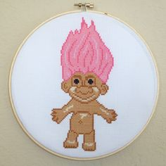 TROLL Cross Stitch Pattern by HanksPatternPlace on Etsy