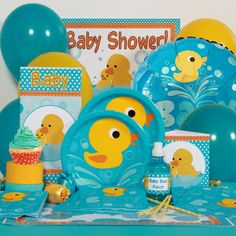 Rubber Ducky Baby Shower Party Perfect Package for 8