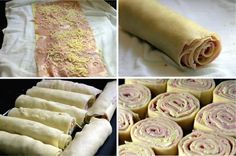Gastronomic Challenges: CHALLENGE: Prepare two types of Rondelli, made with pasta … - Comida Faciles Y Rapida Flan Dessert, Breakfast Recipes, Healthy Dinner Recipes, Meat Recipes, Cooking Recipes, Homemade Pasta, What To Cook, Caramel Apples, Hot Dog Buns