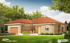 Eris II (wersja C) - projekt domu - Archipelag One Level House Plans, Modern House Floor Plans, Bungalow House Plans, Bungalow House Design, Contemporary House Plans, One Storey House, 2 Storey House Design, Small House Design, Modern House Design