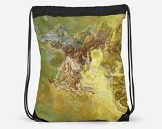Drawstring School Book Bag with Abstract Art, Modern Lined Cinch Sack, Gym Bag, Contemporary Lightweight Travel Tote, Rodeo Cheap School Bags, Cinch Sack, Everyday Items, Travel Tote, Printed Bags, Drawstring Backpack, Gym Bag, Abstract Art