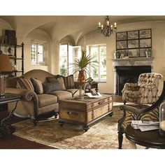 Ernest Hemingway 462 Pauline Camel Back Sofa with Exposed Wood Trim by Thomasville® - Baer's Furniture - Sofa Miami, Ft. Lauderdale, Orlando, Sarasota, Naples, Ft. Myers, Florida