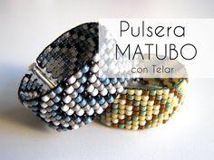 M Abalorios - Pulsera Matubo ancha con Telar - YouTube