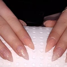 #nailswithcindyt  Been doing nails since the age of 15 stiletto pink glitter nails