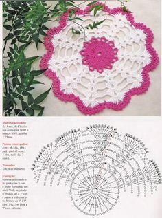 Home Decor Crochet Patterns Part 79 - Beautiful Crochet Patterns and Knitting Patterns Free Crochet Doily Patterns, Crochet Doily Diagram, Crochet Diy, Crochet Pillow, Crochet Home, Thread Crochet, Crochet Motif, Crochet Doilies, Crochet Flowers