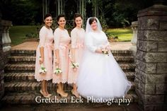 Beautiful Modest Bridesmaid Dresses | Weddings, Ruffles, Lace | the Night in Paris Dress in Blush Pink | www.daintyjewells.com | Gretchen Eck Photography