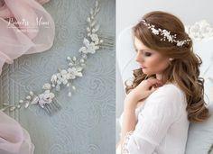 Haarschmuck & Kopfputz - Braut Haarschmuck echte Perlen Hochzeit Haarkamm - ein Designerstück von Princess_Mimi bei DaWanda