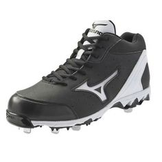 Mizuno Vintage 7 Baseball Cleats Mens Black Leather - ONLY $74.99