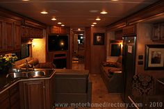 Luxurious Motorhomes Interior | Interior photo of a high-end luxury RV at the 2010-11 RV Show