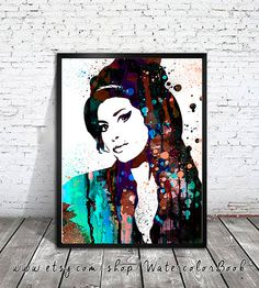 Hey, I found this really awesome Etsy listing at https://www.etsy.com/listing/206107062/amy-winehouse-watercolour-painting-print