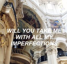 Will you take me with all my imperfections