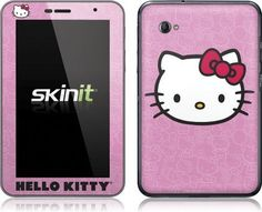 Skinit Hello Kitty Face Pink Vinyl Skin for Samsung Galaxy Tab 7.0 Plus by Skinit. $23.99. IMPORTANT: Skinit skins, stickers, decals are NOT A CASE. Our skins are VINYL SKINS that allow you to personalize and protect your device with form-fitting skins. Our adhesive backing can be applied and removed with no residue, no mess and no fuss. Skinit skins are engineered specific to each device to take into account buttons, indicator lights, speakers, unique curvature and...