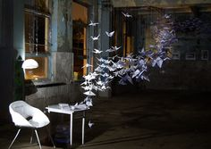 Geometry Of Ideas (art installation) by Ira Gumenchuk, via Behance