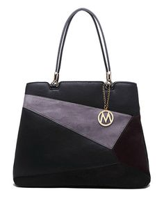 Look what I found on #zulily! Black & Purple Geometric Tote #zulilyfinds