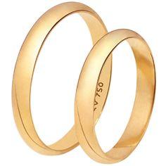 Alianca de Casamento 18 K LOVE