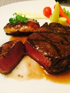 鵝肝菲力牛排 in 集雅朵法式餐廳