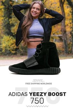 d6c622c69c890 Buy womens size Adidas Yeezy Boost 750 Triple Black sneakers