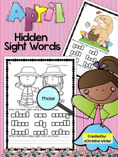 Hidden Sight Words~  Your students will be engaged as they use a magnifying glass to recognize, practice reading, and write the hidden sight words.