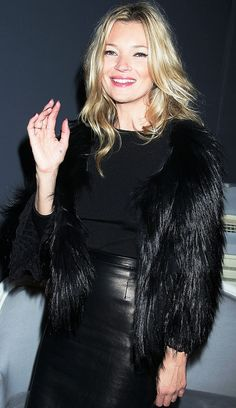The Many Black Jackets of Kate Moss via @WhoWhatWear Love this outfit